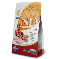 FARMINA N&D CAT LOW GRAIN CHICKEN&POMEGRANATE ADULT