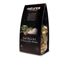 Naturea GrainFree Delicious Crunchy Biscuits For Dogs Fish Olive Oil & Aromatic Herbs