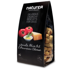 Naturea GrainFree Delicious Crunchy Biscuits For Dogs Tomato Olive Oil & Parmesan Cheese