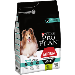 Purina Pro Plan Medium Adult Sensitive Digestion Optidigest Lamb