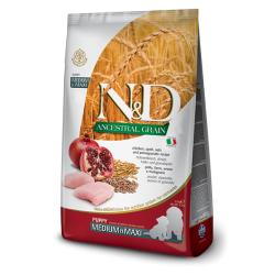 FARMINA N&D ANCESTRAL PUPPY MED/MAXI CHICKEN & POMEGRANATE