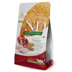 FARMINA N&D CAT LOW GRAIN CHICKEN&POMEGRANATE NEUTERED