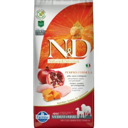 FARMINA N&D Grain Free ADULT Med/Maxi CHICKEN POMEGRANATE