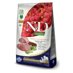 FARMINA N&D DOG QUINOA WEIGHT MANAGEMENT LAMB & BROCCOLI